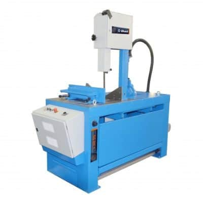 Vertical bandsaw for miter cuts